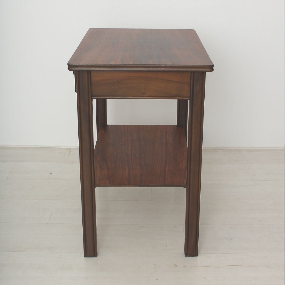 Walnut side table with 2 drawers 1930s for sale at pamono for Large side table with drawers