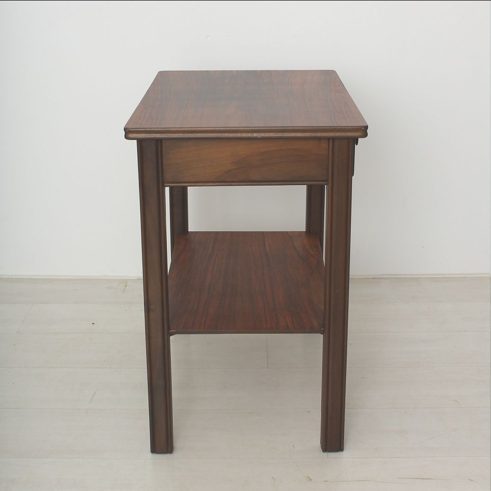 Walnut side table with 2 drawers 1930s for sale at pamono for Walnut side table
