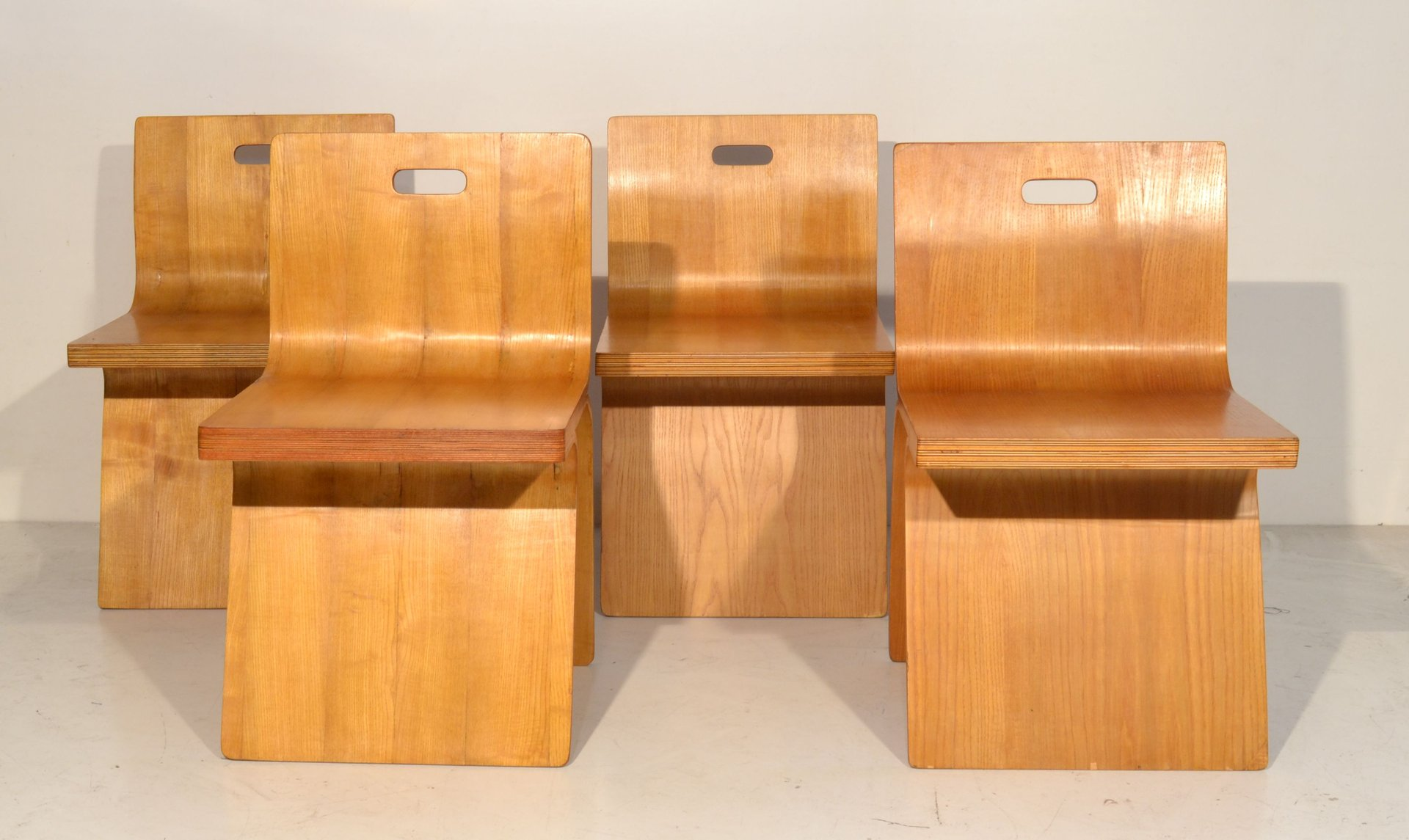 Bent plywood chair - Italian Bent Plywood Chairs 1960s Set Of 4