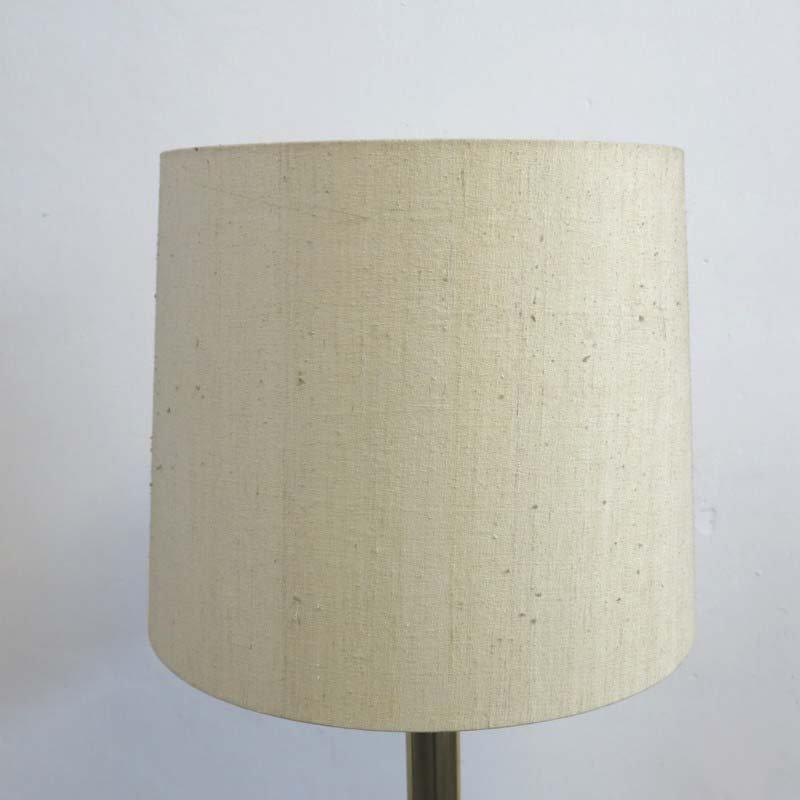 messing stehlampe mit lampenschirm aus stoff 1960er bei pamono kaufen. Black Bedroom Furniture Sets. Home Design Ideas