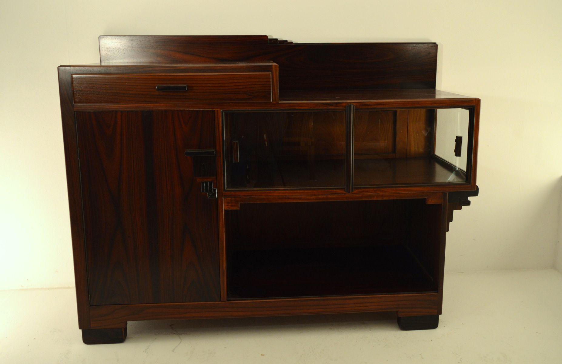 amsterdamer schule k chenschrank aus palisander ebenholz 1930er bei pamono kaufen. Black Bedroom Furniture Sets. Home Design Ideas