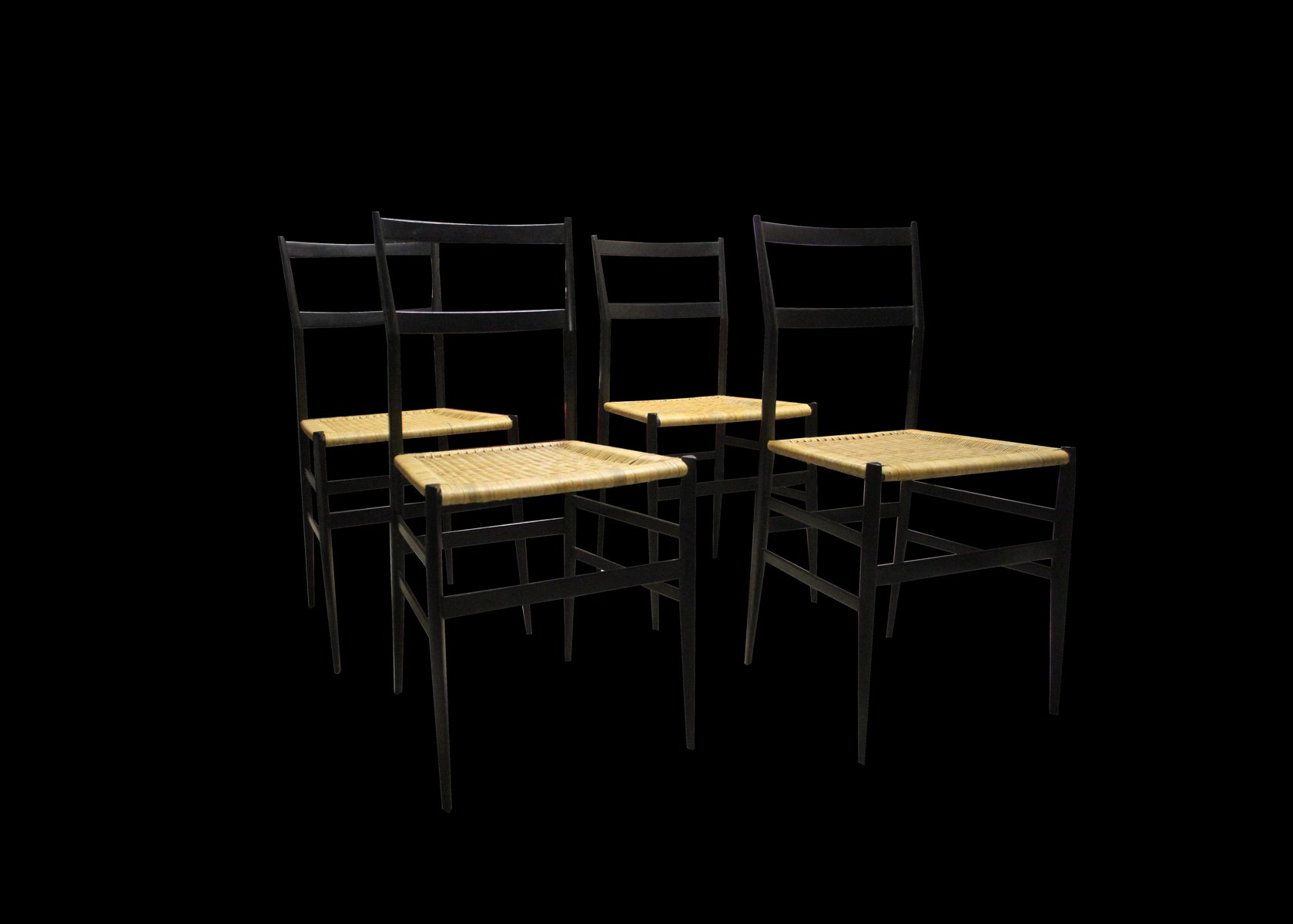 Italian Chairs by Gio Ponti for Cassina 1957 Set of 4 for sale