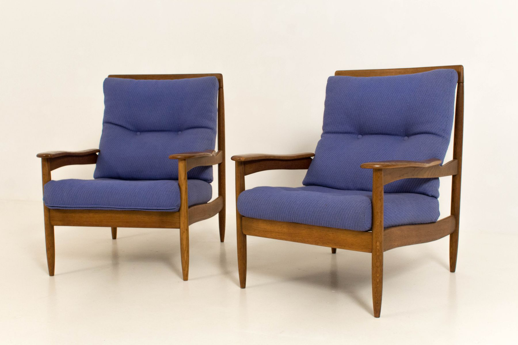 Mid century modern danish lounge chairs 1960s set of 2 for Mid century danish modern chair
