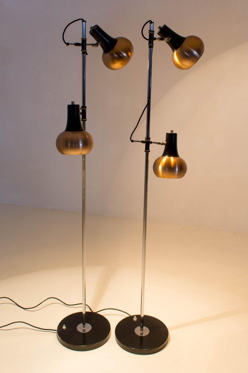 Mid-Century Modern Copper Floor Lamps, 1970s, Set of 2 for ...