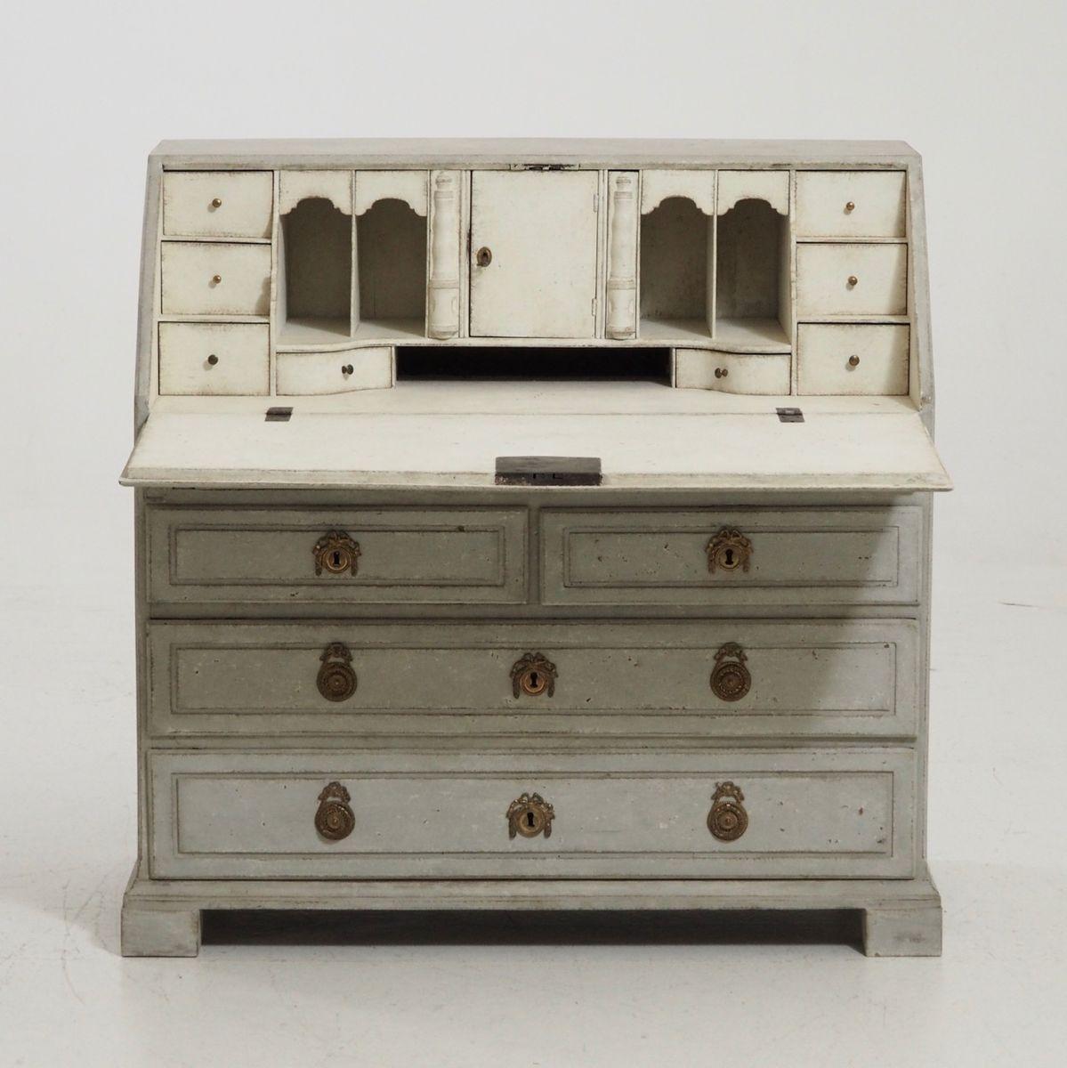 geschnitzter sekret r mit schubladen 1790er bei pamono kaufen. Black Bedroom Furniture Sets. Home Design Ideas