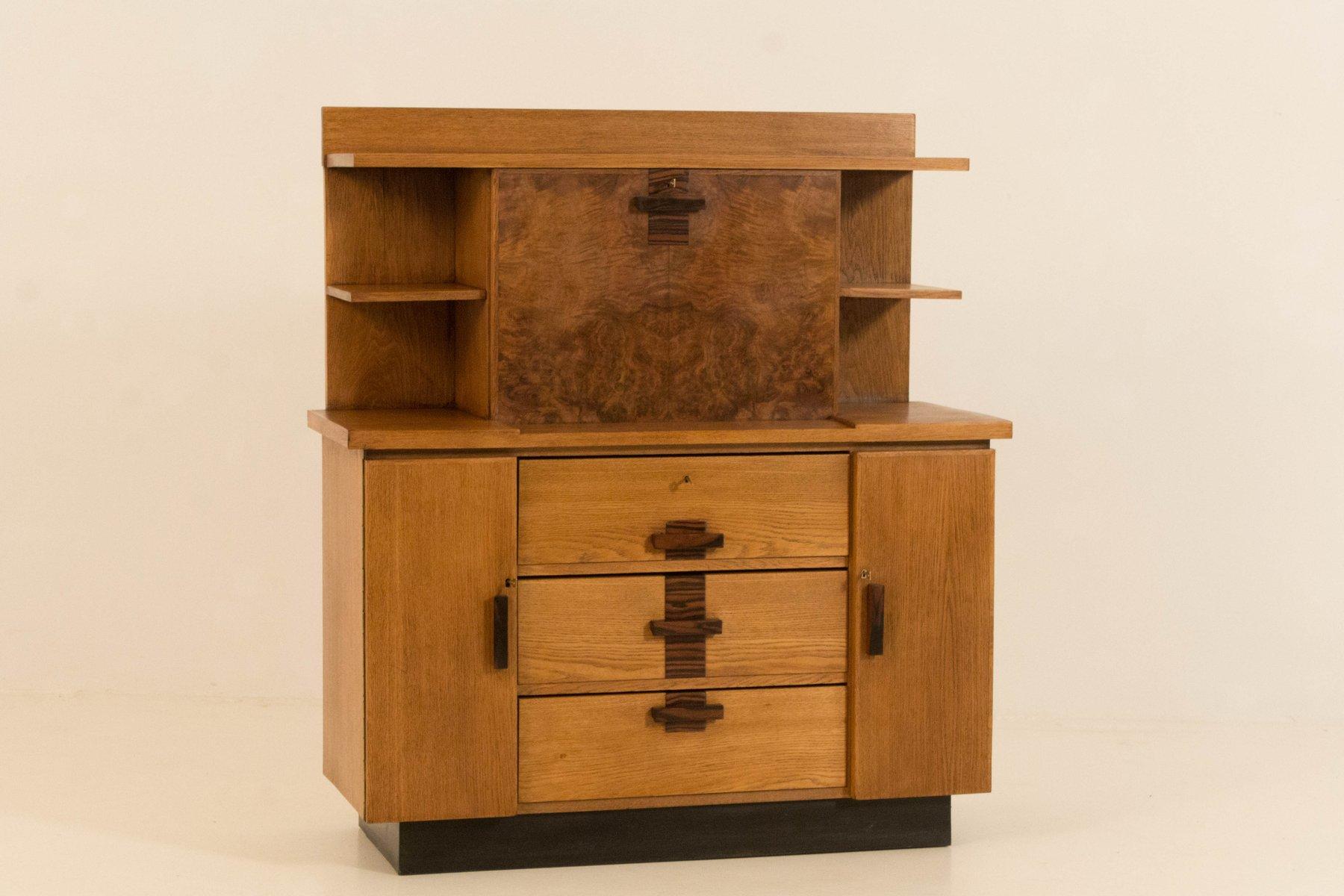 biblioth que art d co ecole de hague avec bureau trappe par p e l izeren pour genneper molen. Black Bedroom Furniture Sets. Home Design Ideas