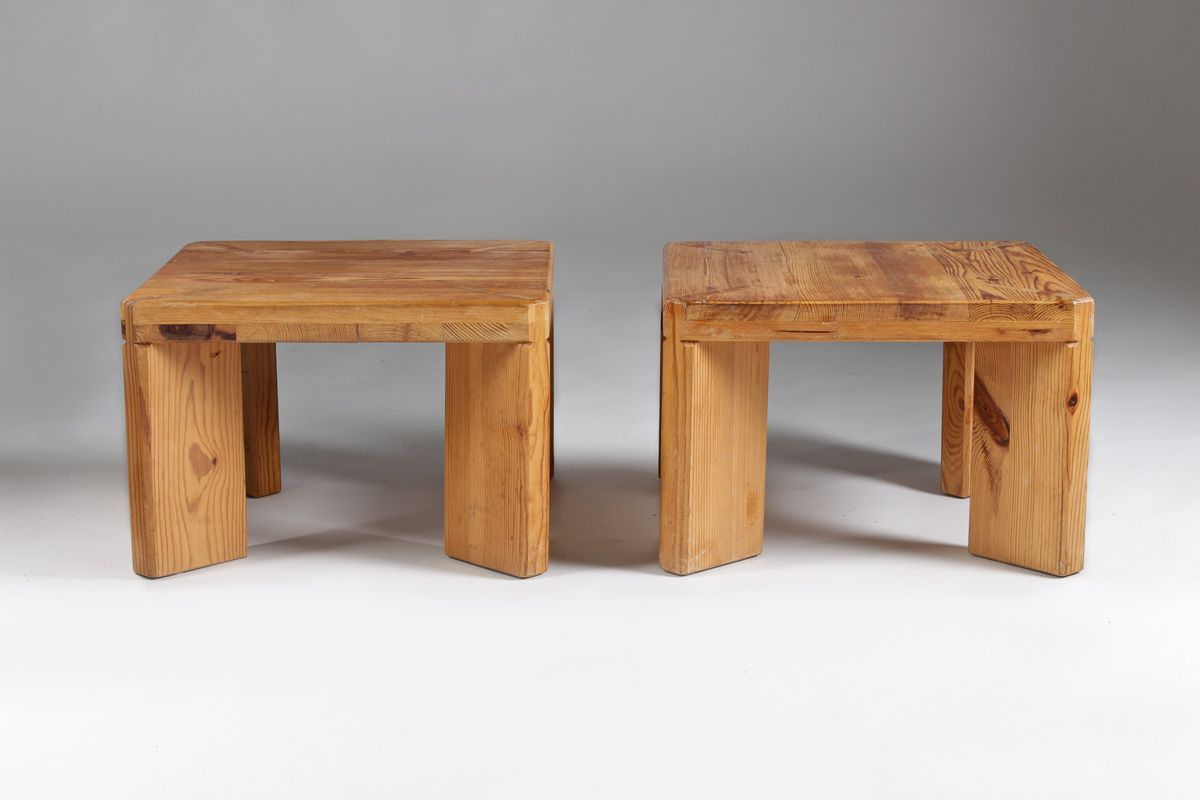 Swedish Pine Stool Or Side Table By Roland Williamsson, 1969