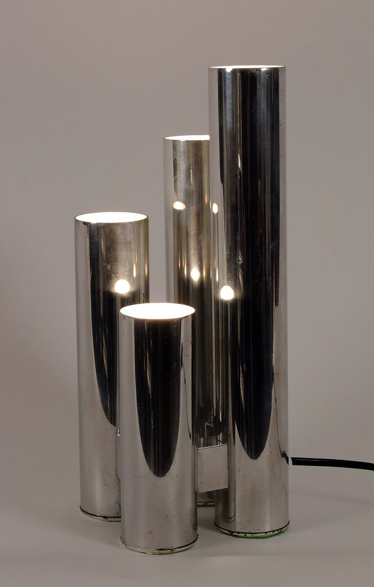 lampe de bureau en aluminium poli etats unis 1960s en. Black Bedroom Furniture Sets. Home Design Ideas