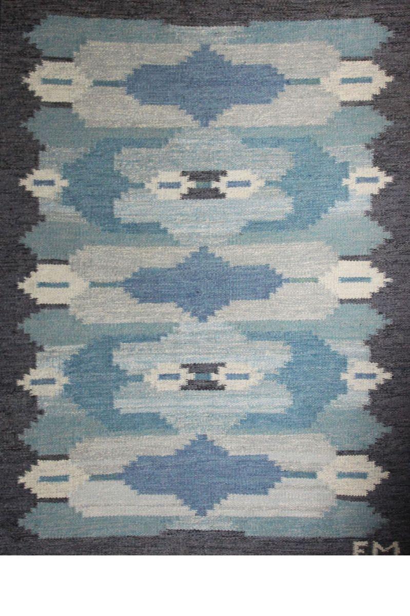 Schwedischer Rölakan Flachgewebe Teppich, 1960er bei