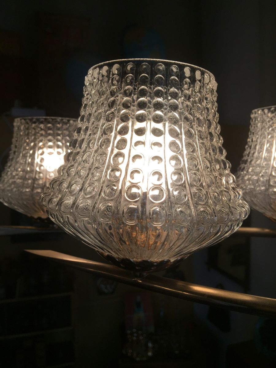 Vintage Antique Glass Ceiling Light 1960s For Sale At Pamono