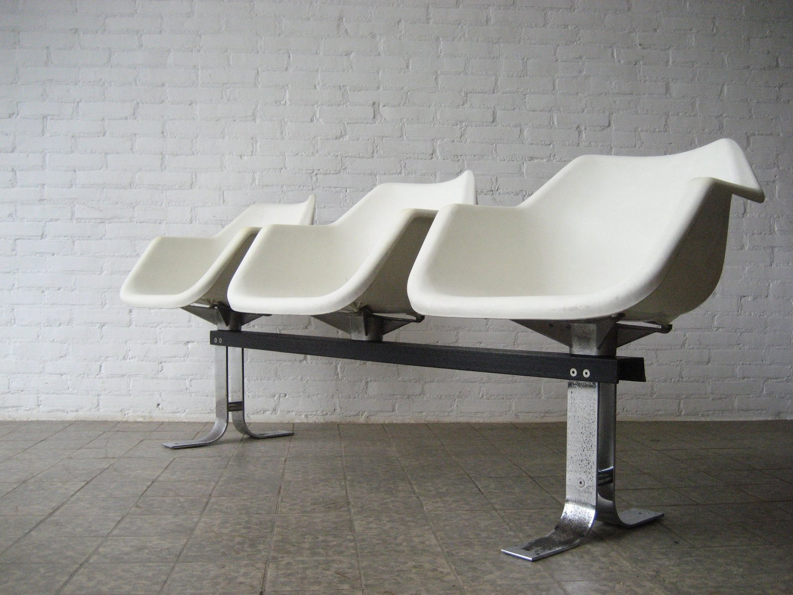 Vintage British Polypropylene Waiting Room Chairs By Robin Day For Hille 197
