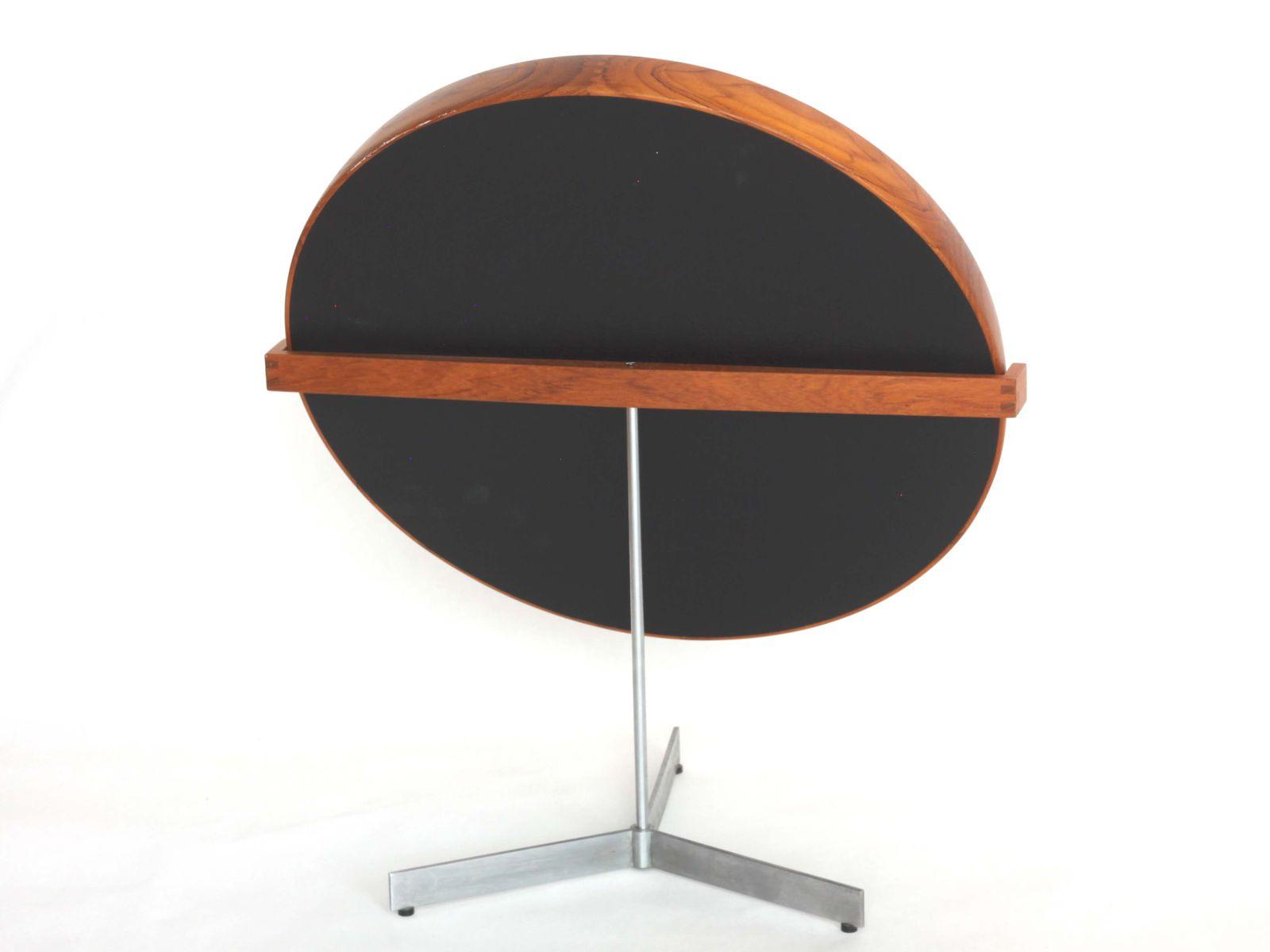 Schwedischer Tischspiegel aus Nussholz & Stahl von Uno ...