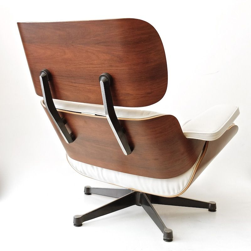 german white swivel chair by charles eames for vitra
