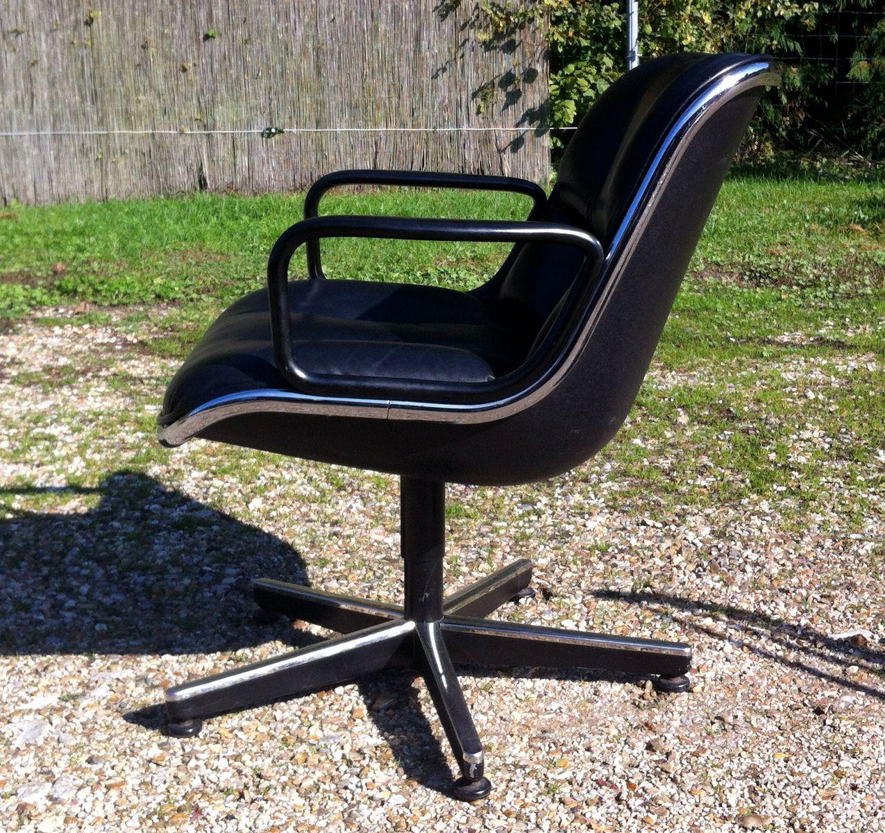 chaise pivotante mod le 12a1 par charles pollock pour. Black Bedroom Furniture Sets. Home Design Ideas