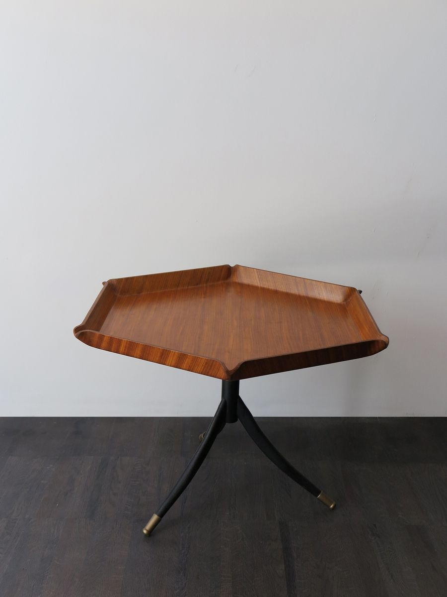 Italian Teak Hexagonal Coffee Table 1950s For Sale At Pamono
