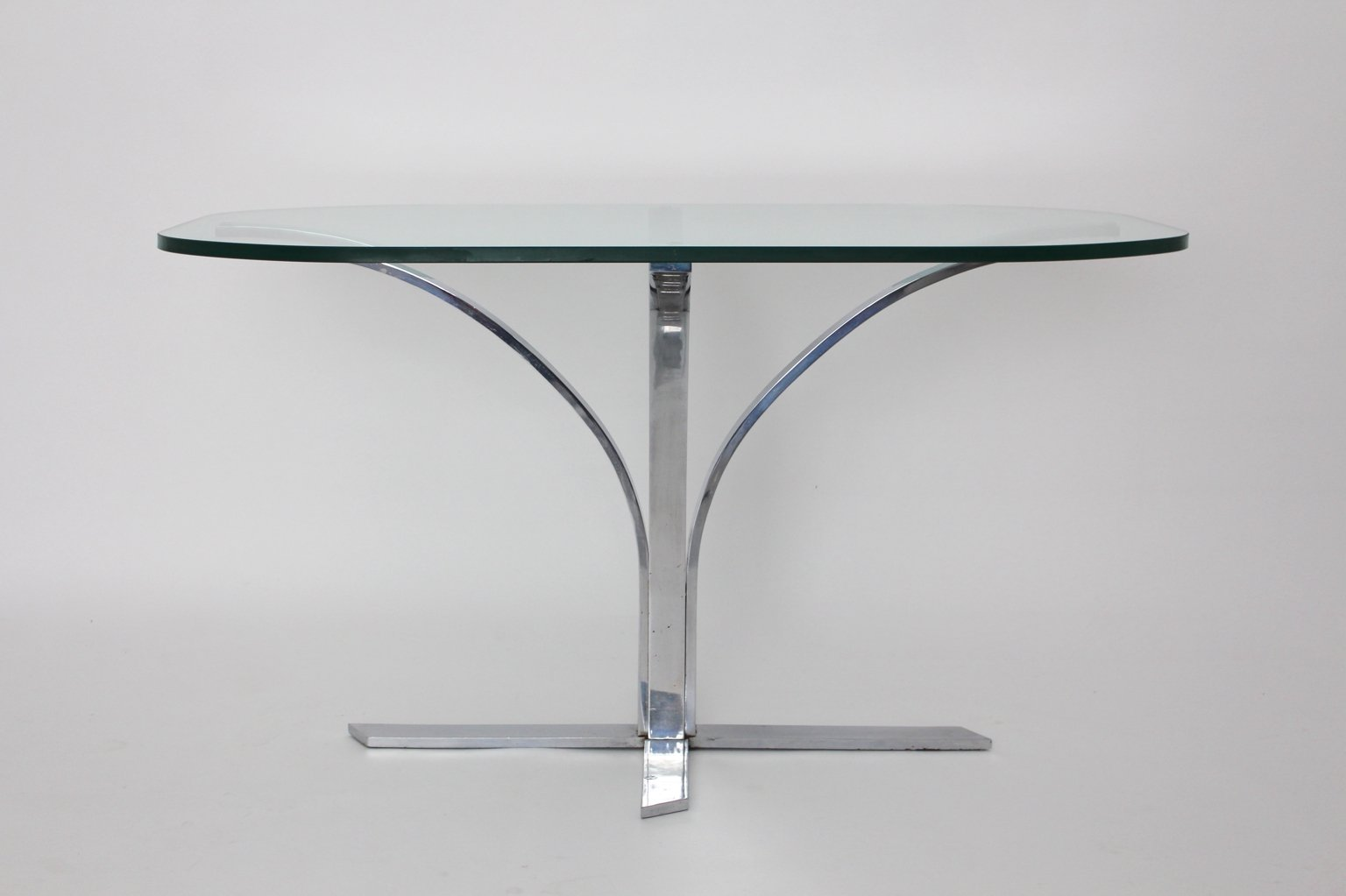 german glass and chrome dining table s for sale at pamono - german glass and chrome dining table s