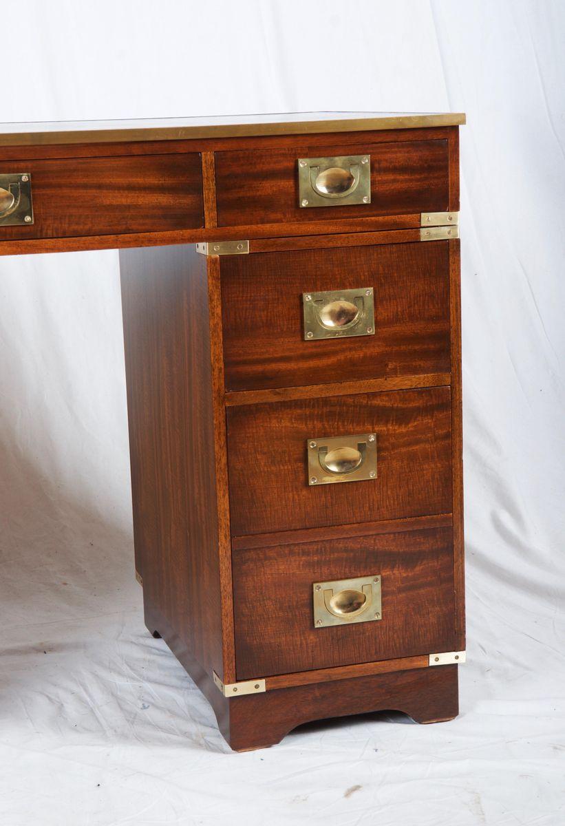 britischer mahagoni campaign schreibtisch bei pamono kaufen. Black Bedroom Furniture Sets. Home Design Ideas