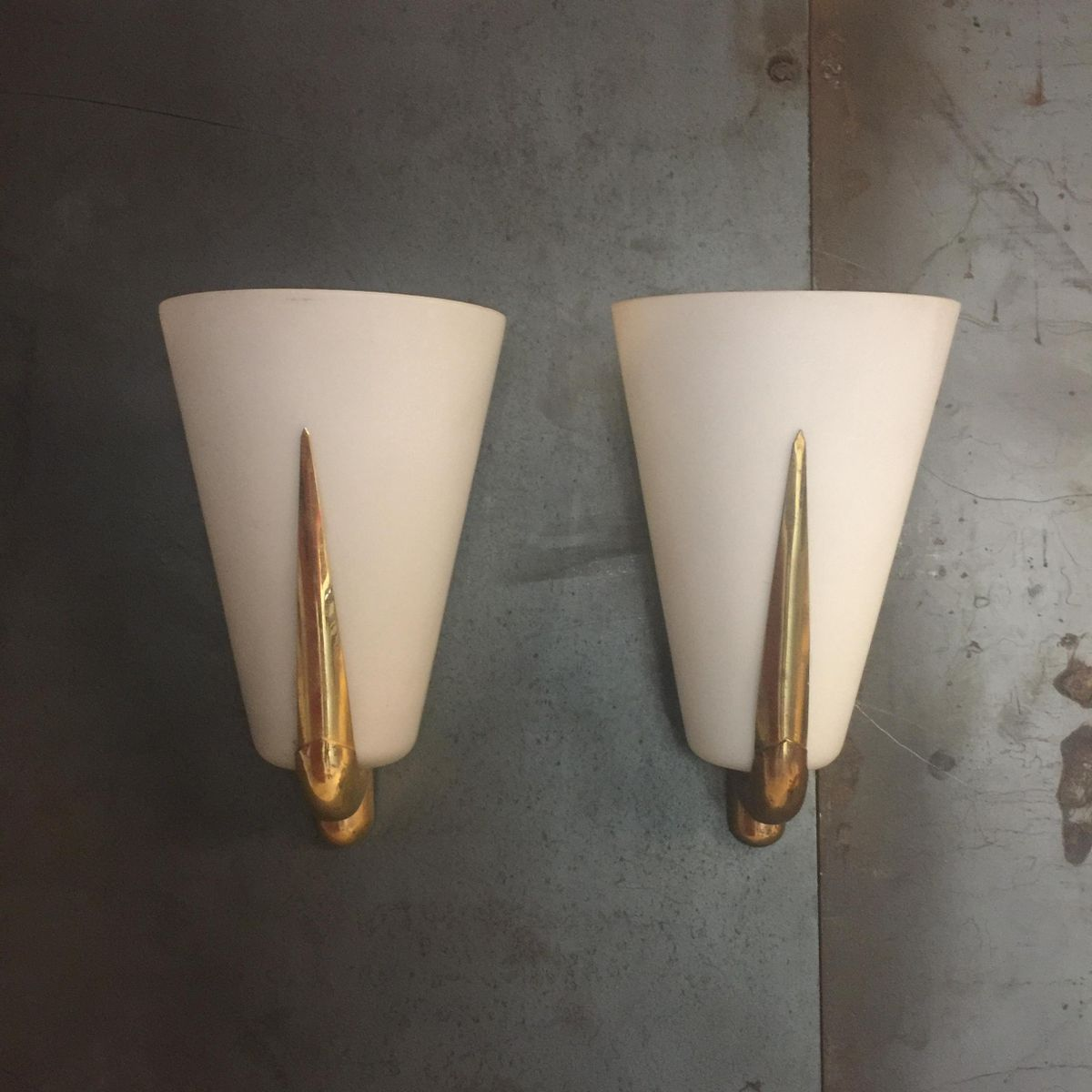 Italian Made Wall Sconces : Vintage Italian Wall Sconces, Set of 2 for sale at Pamono