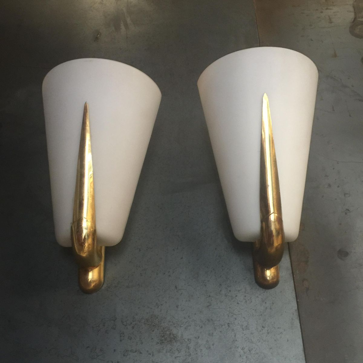 Vintage Italian Wall Sconces, Set of 2 for sale at Pamono