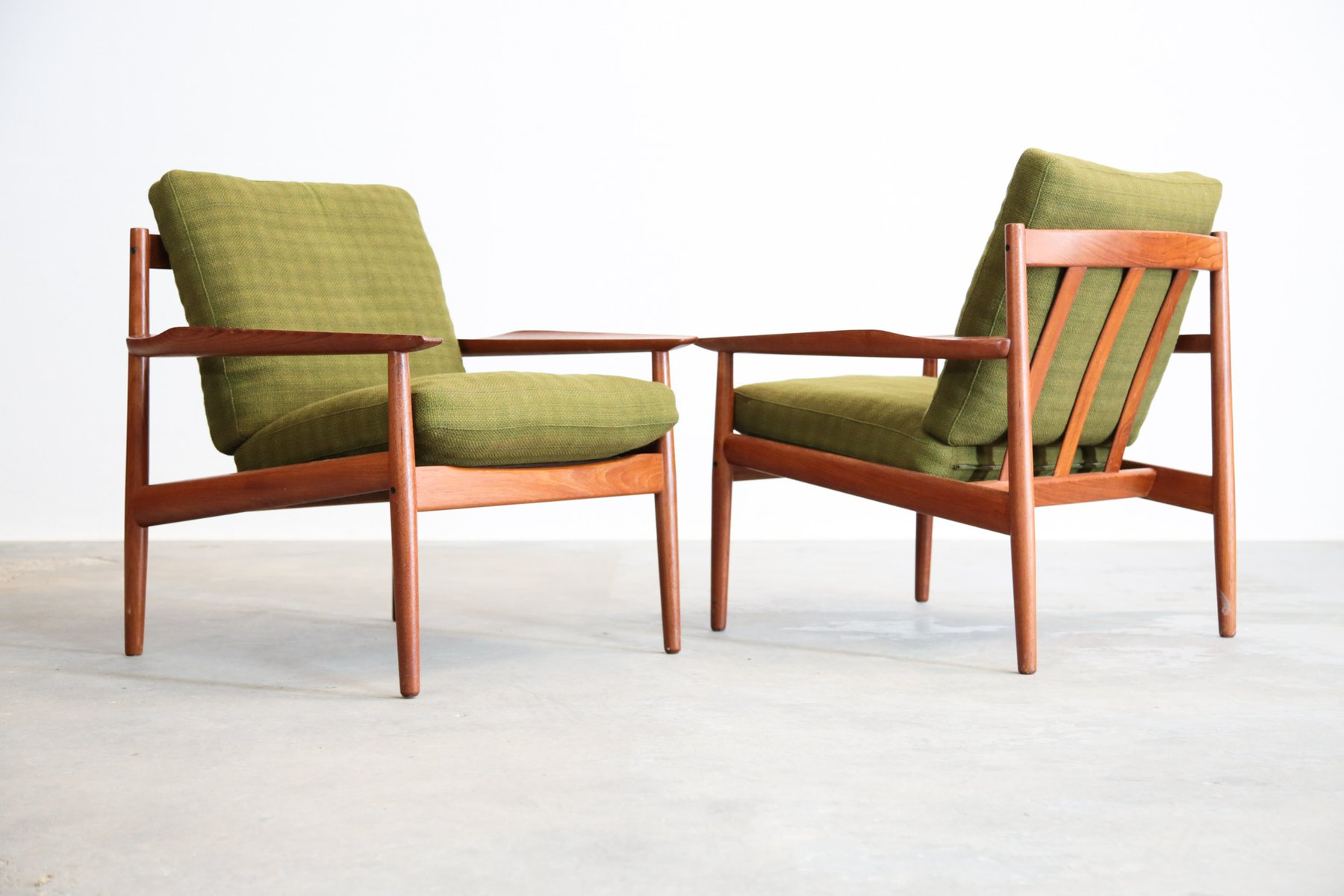 Scandinavian teak armchairs by arne vodder for glostrup for Furniture design classes nyc