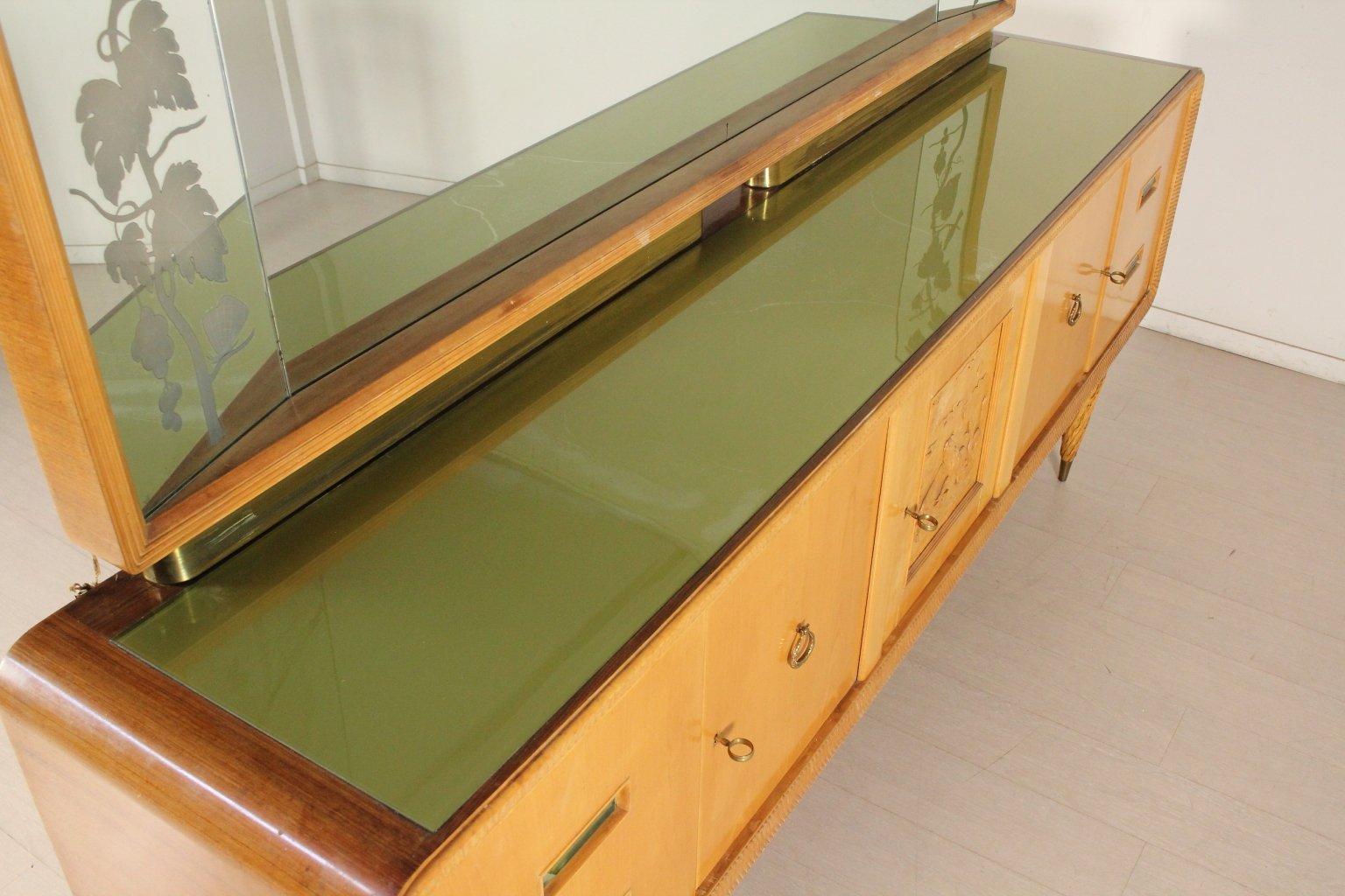 Italienischer teak ahorn frisiertisch 1950er bei pamono for Sideboard italienischer stil