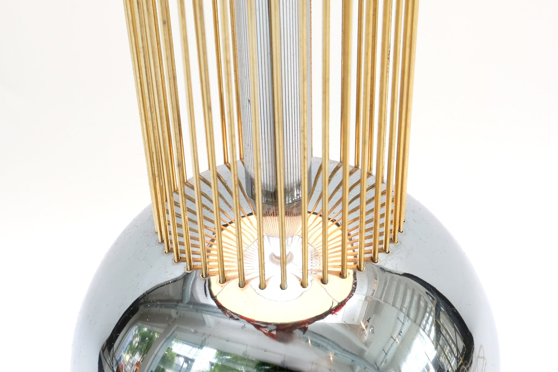 Vintage Italian Table Lamp with Feather Shade for sale at ...