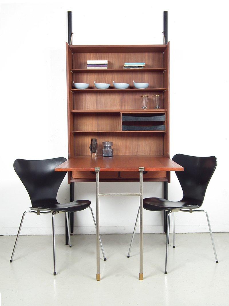 niederl ndischer mid century teak sekret r von louis van teeffelen f r w b bei pamono kaufen. Black Bedroom Furniture Sets. Home Design Ideas
