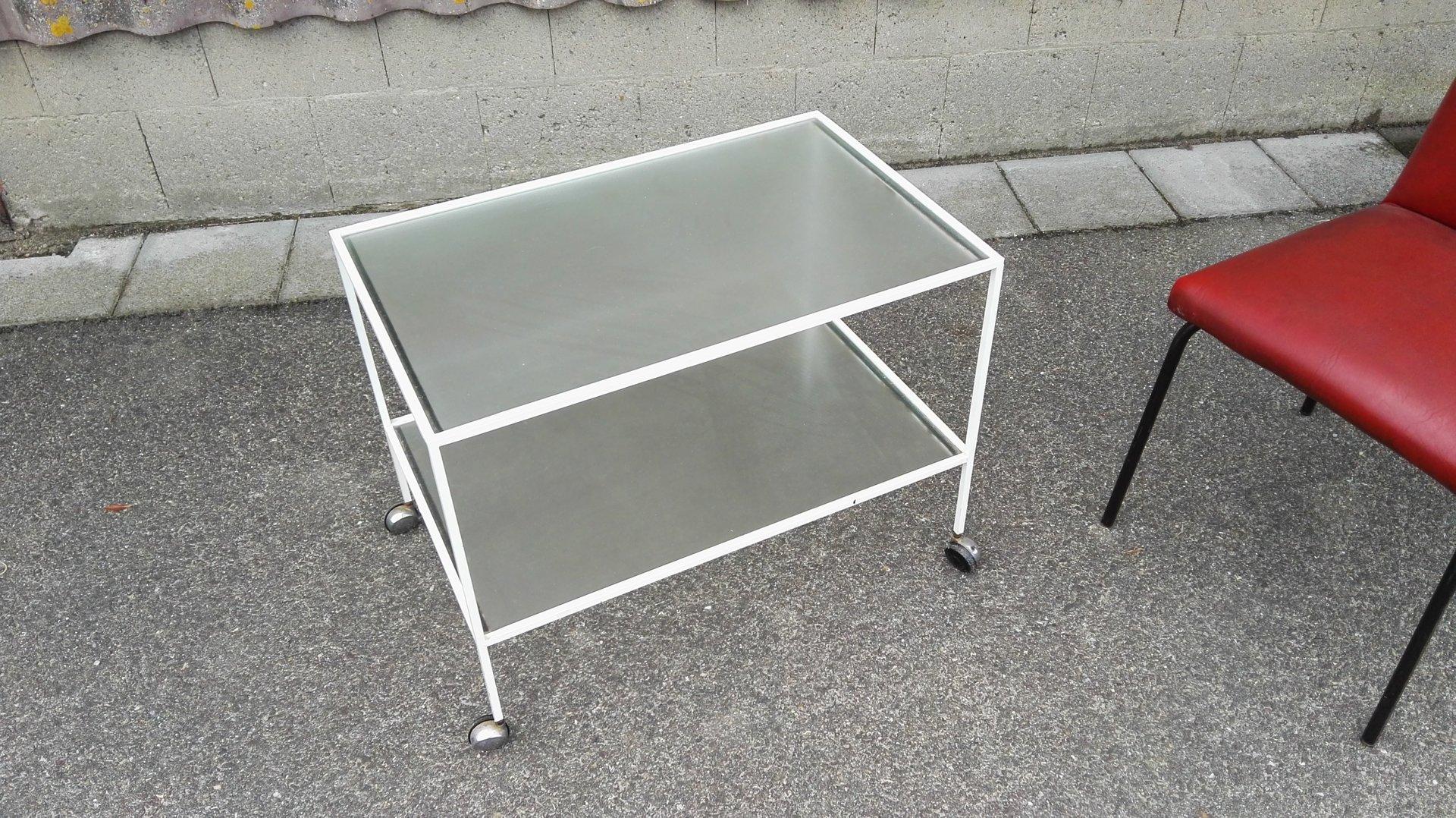 scaffali metallo e vetro: scaffale bianco in metallo l 50 cm ... - Scaffali Metallo E Vetro