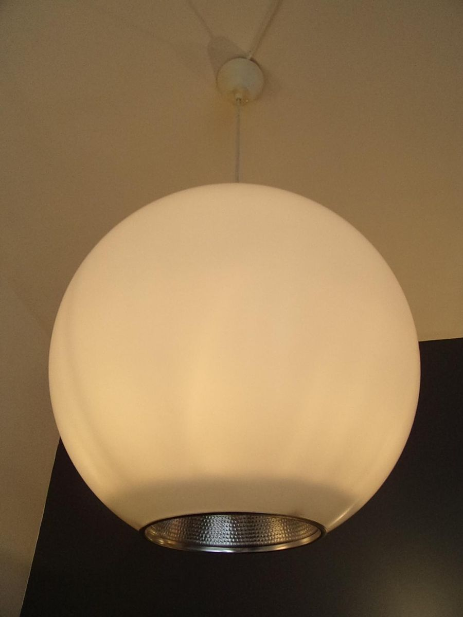 Dutch spherical suspension lamps from philips 1970s set for Suspension 2 lampes