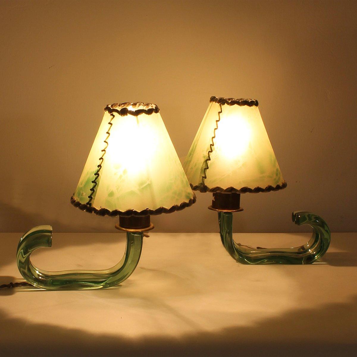 italienische messing glas mini lampen von seguso 1940er bei pamono kaufen. Black Bedroom Furniture Sets. Home Design Ideas