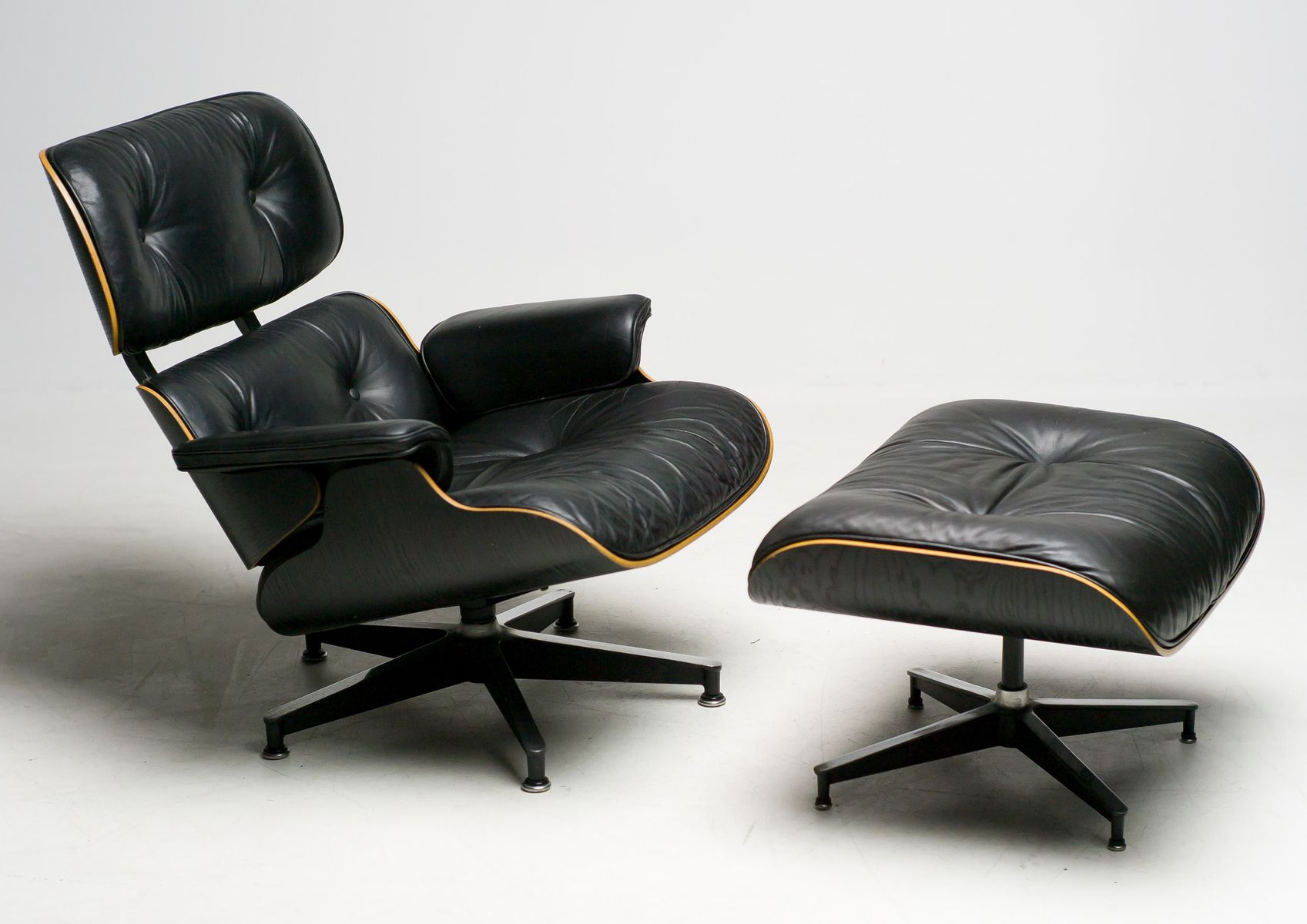 american black 670 swivel chair and 671 ottoman by charles. Black Bedroom Furniture Sets. Home Design Ideas