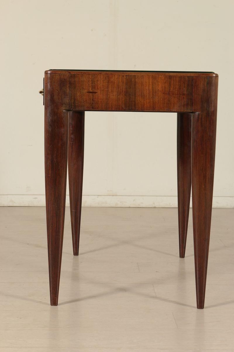 italienischer tisch aus palisander messing glas. Black Bedroom Furniture Sets. Home Design Ideas