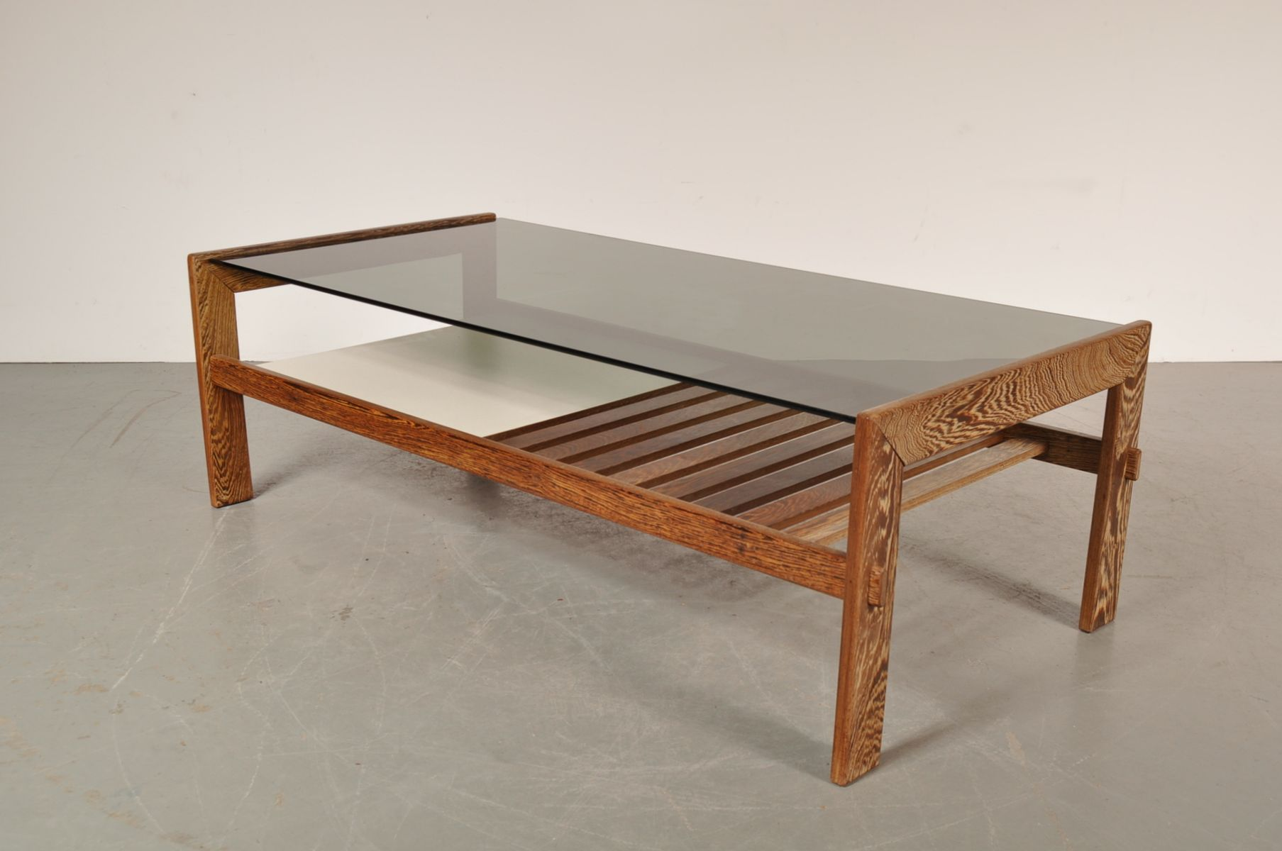 Wenge Smoked Glass Coffee Table 1960s For Sale At Pamono: wenge coffee tables
