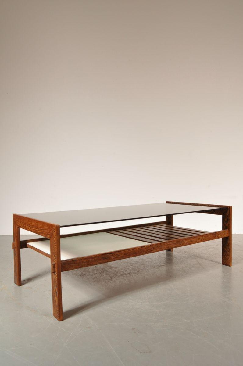 Wenge smoked glass coffee table 1960s for sale at pamono - Table wenge ikea ...