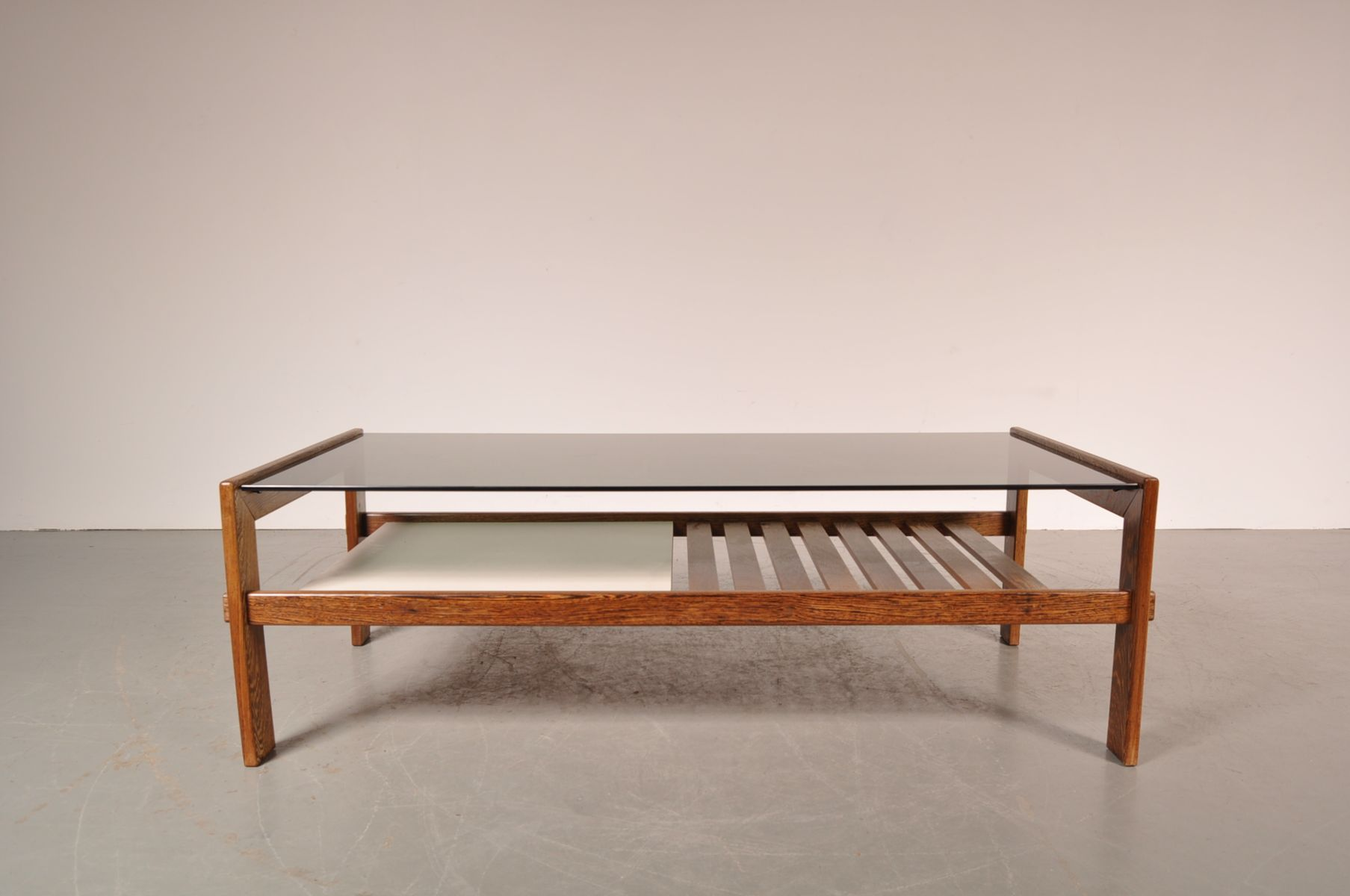 Wenge Smoked Glass Coffee Table 1960s For Sale At Pamono