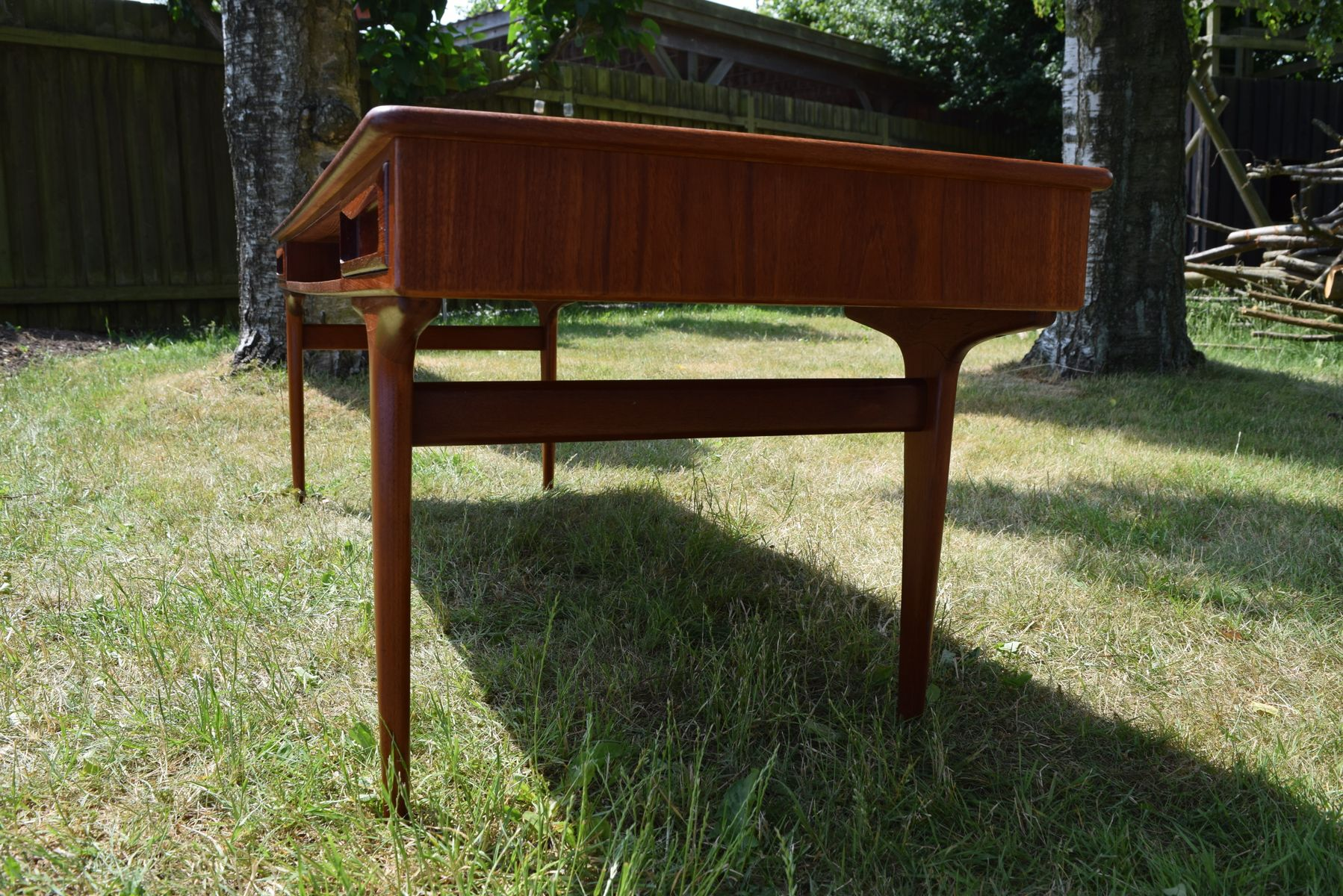 Danish Teak Coffee Table with Drawers 1960s for sale at