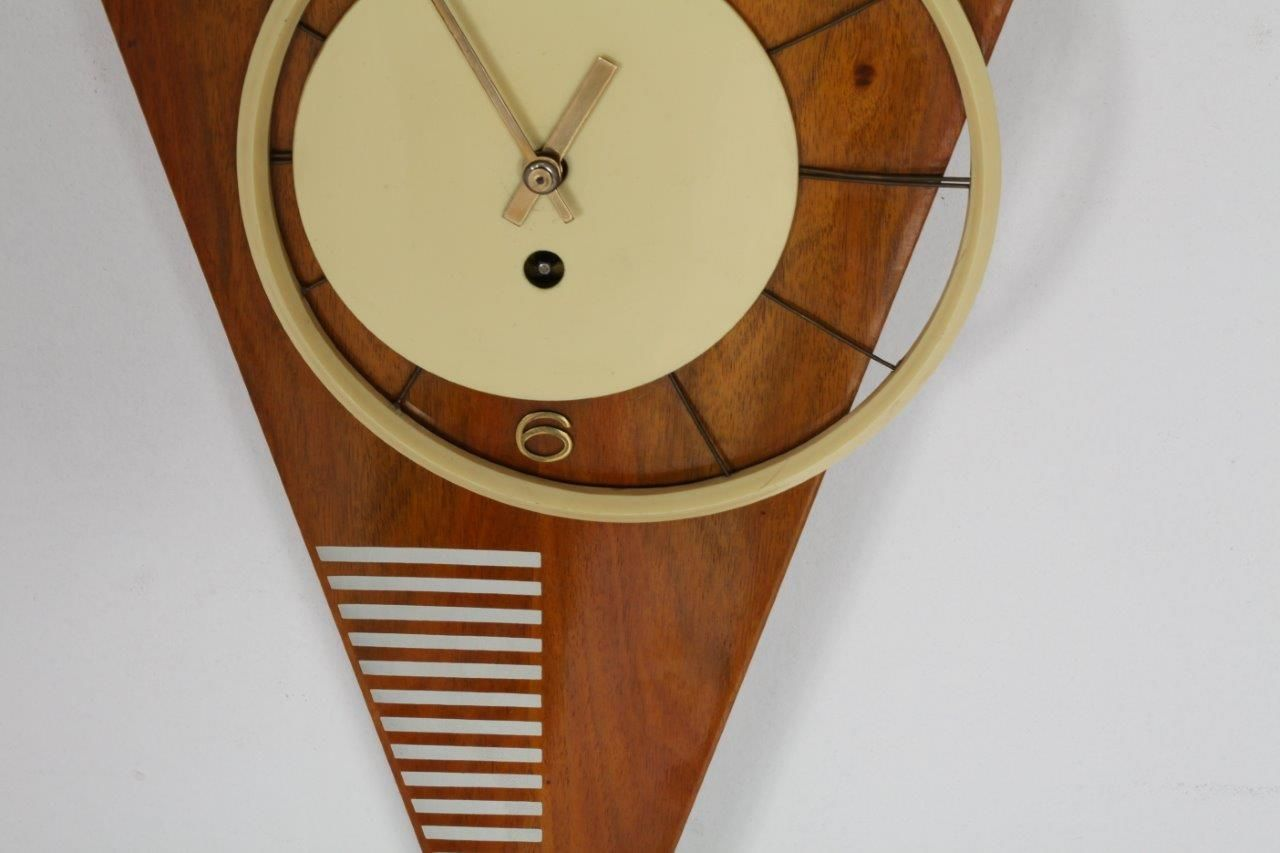 midcentury viennese asymmetric triangle wall clock  for sale  - price per piece