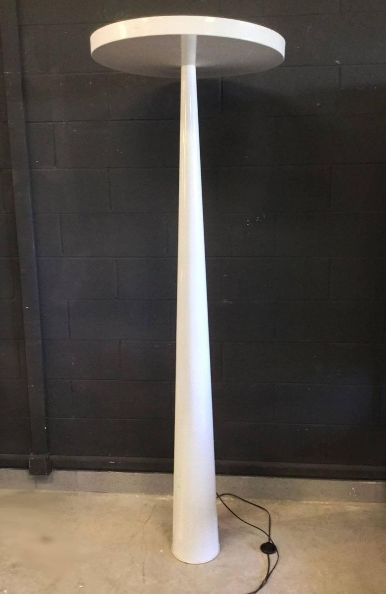 French minimalist white metal floor lamp 1980 for sale at for White french floor lamp