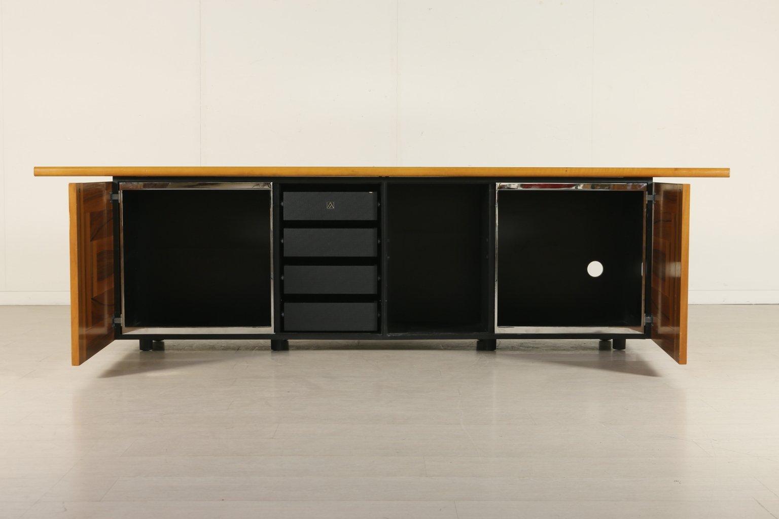 sheraton sideboard mit schiebet ren von giotto stoppino. Black Bedroom Furniture Sets. Home Design Ideas