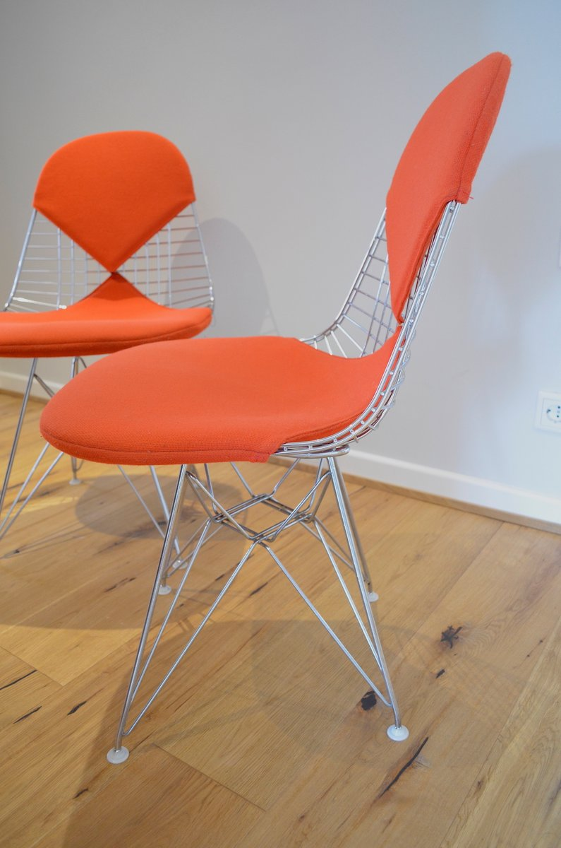 Mid century wire bikini chair by charles ray eames for for Eames chair nachbau deutschland