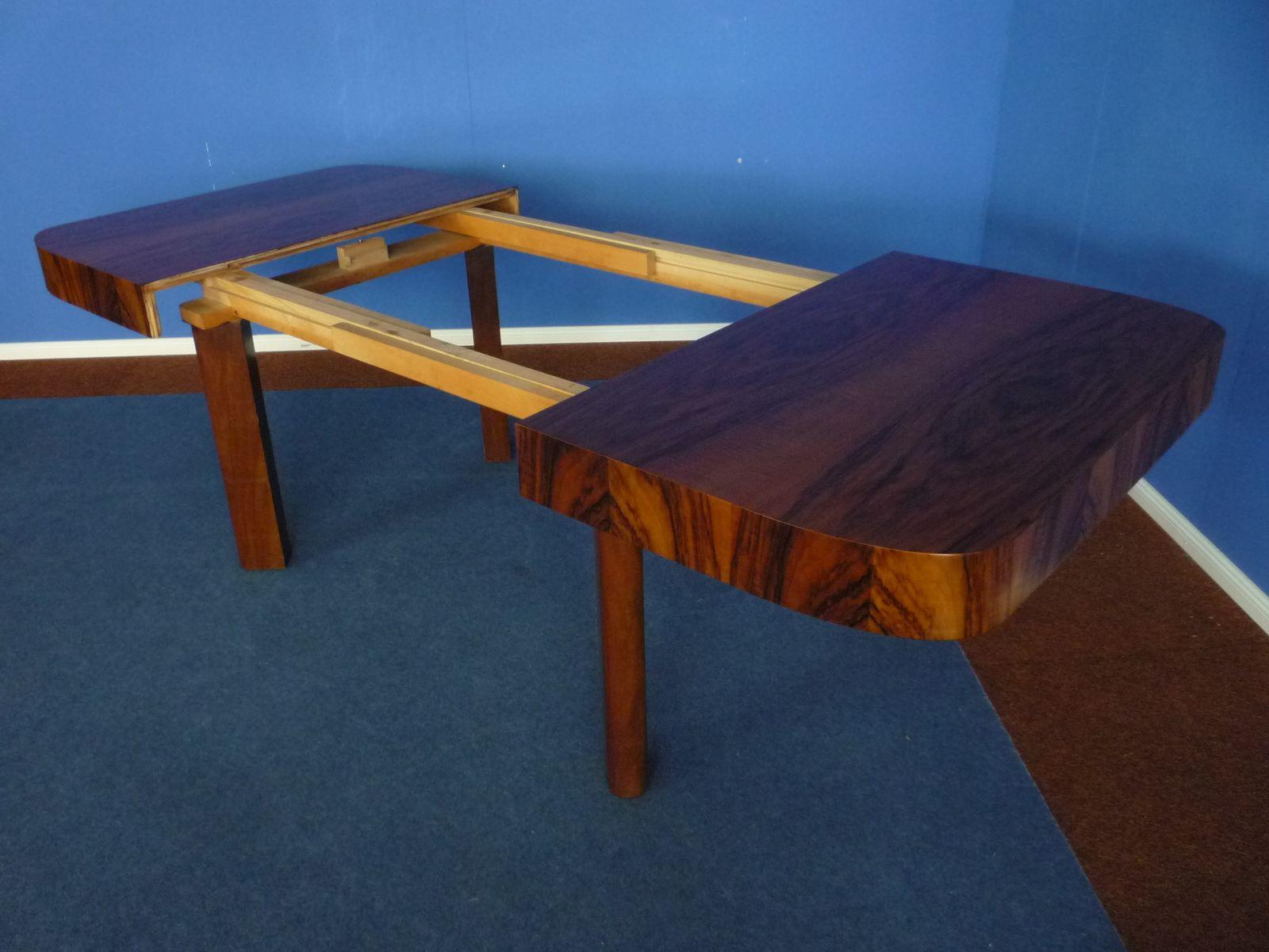 Table de salle manger rallonge art d co en noyer for 3 suisses table de salle a manger