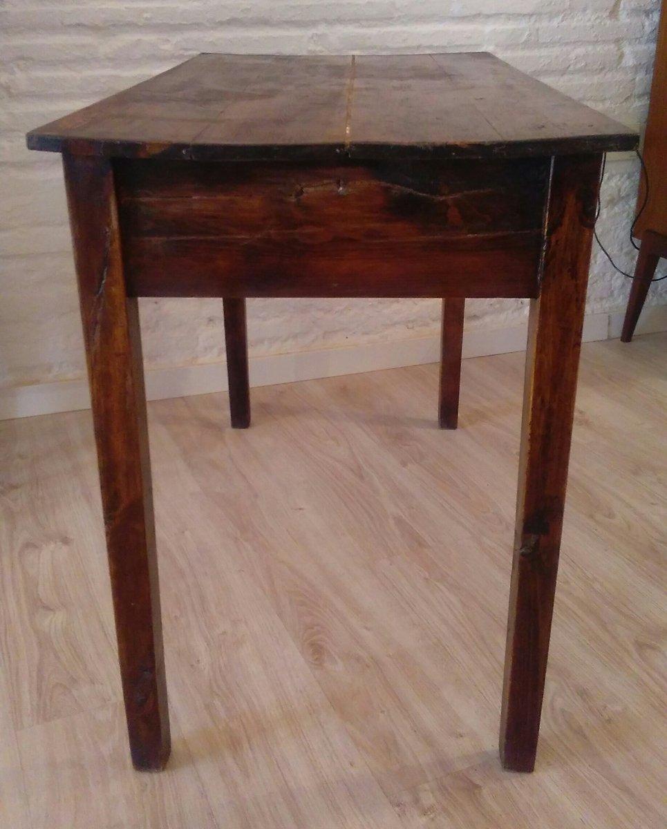 antiker kiefernholz tisch mit schublade bei pamono kaufen. Black Bedroom Furniture Sets. Home Design Ideas