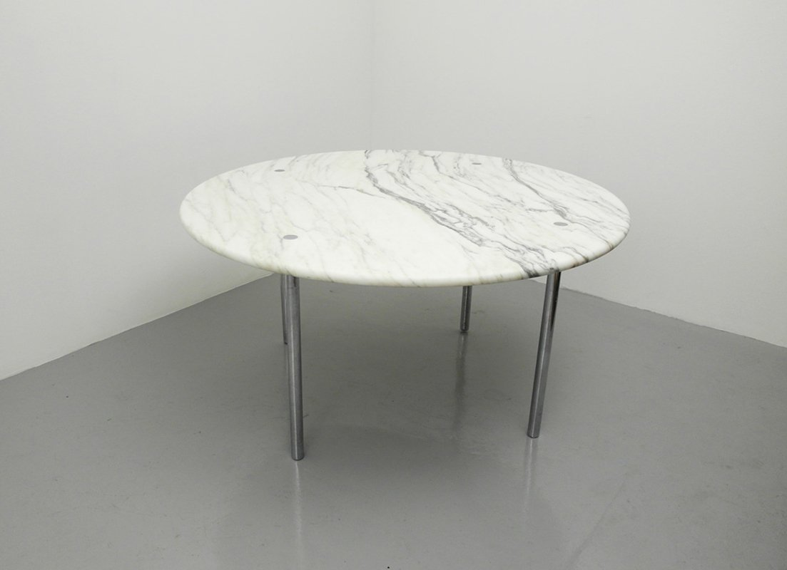 table de salle manger avec dessus en marbre par estelle and erwin laverne pour laverne. Black Bedroom Furniture Sets. Home Design Ideas