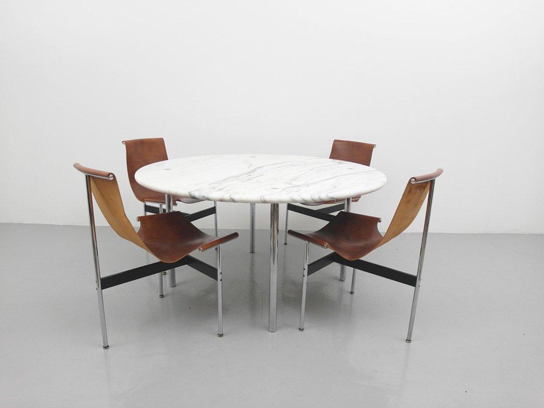 Amerikanischer esstisch mit marmorplatte von estelle und for Esstisch marmorplatte