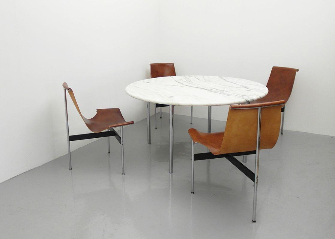 amerikanischer esstisch mit marmorplatte von estelle und erwin laverne f r laverne international. Black Bedroom Furniture Sets. Home Design Ideas