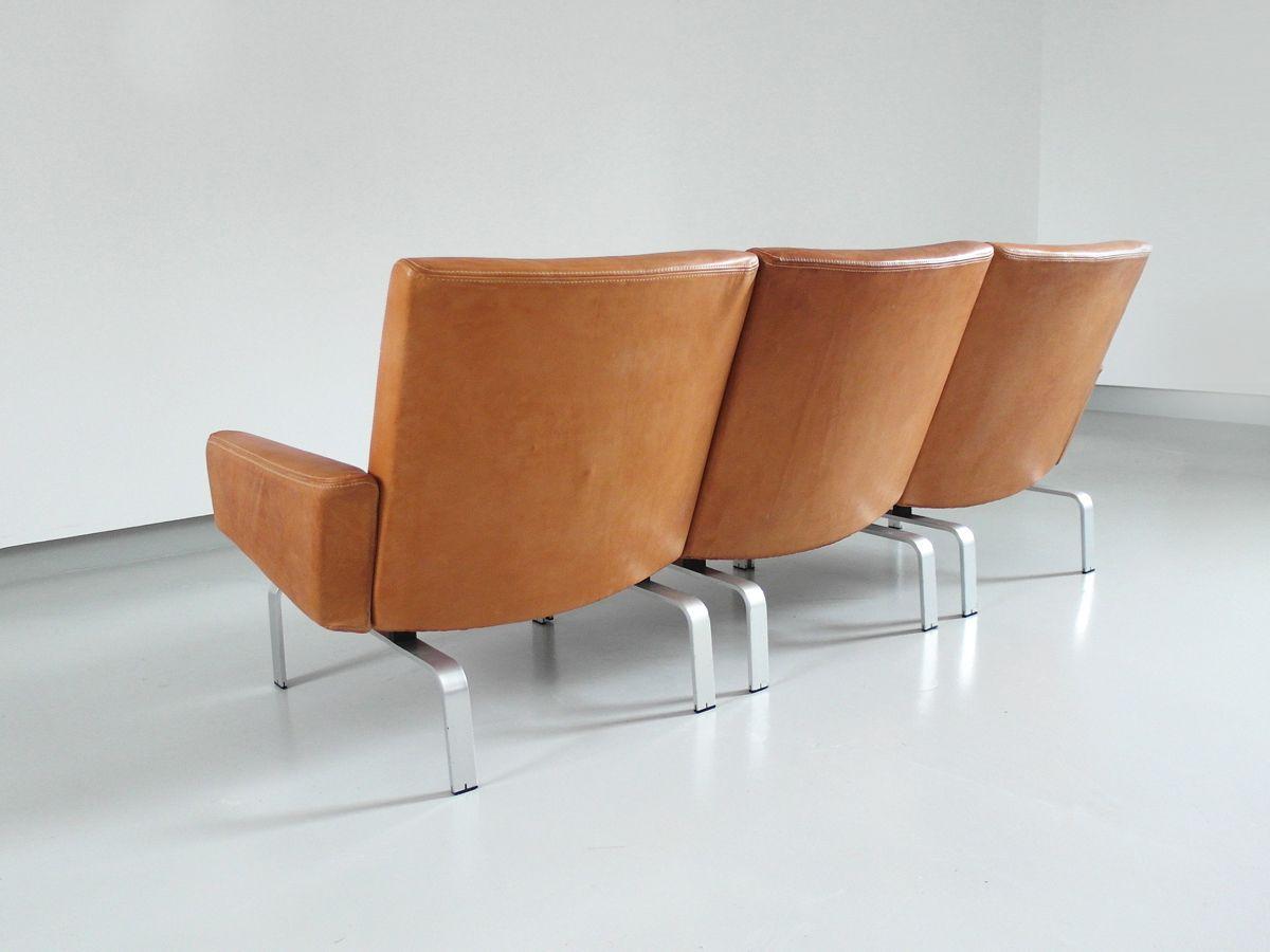 D nisches sofa aus leder aluminium von j rgen h j f r for Sofa aus leder