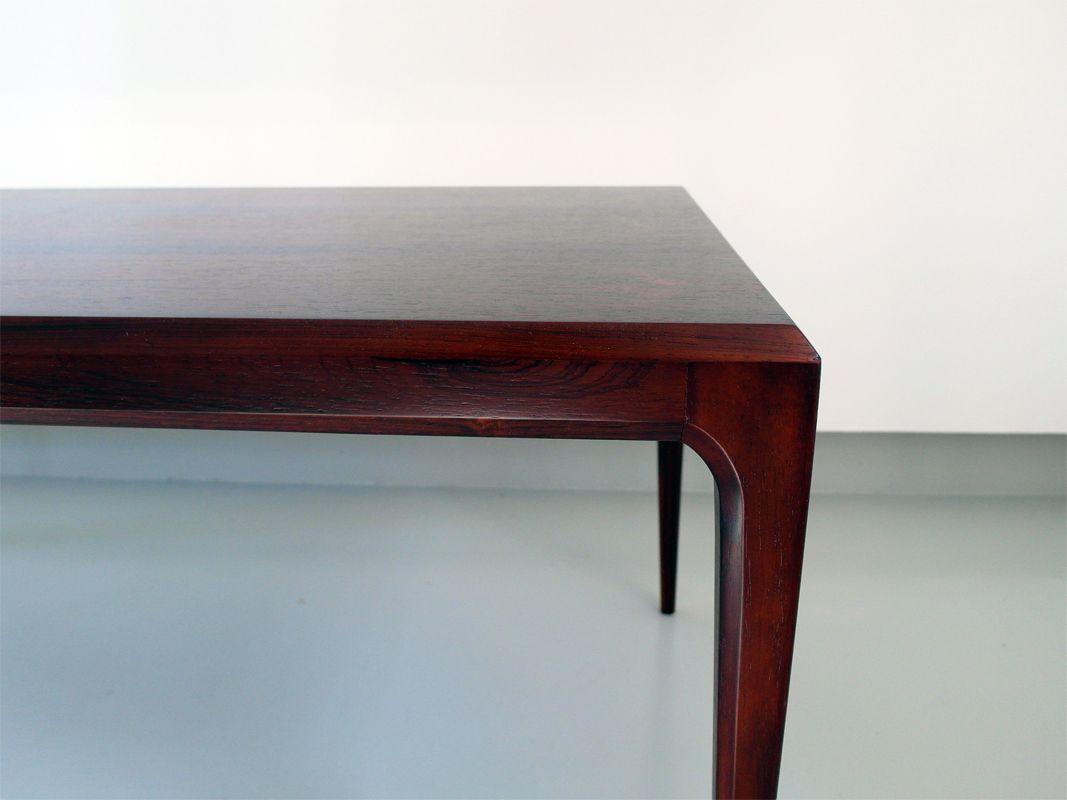 danish minimalist rosewood coffee table by johannes. Black Bedroom Furniture Sets. Home Design Ideas