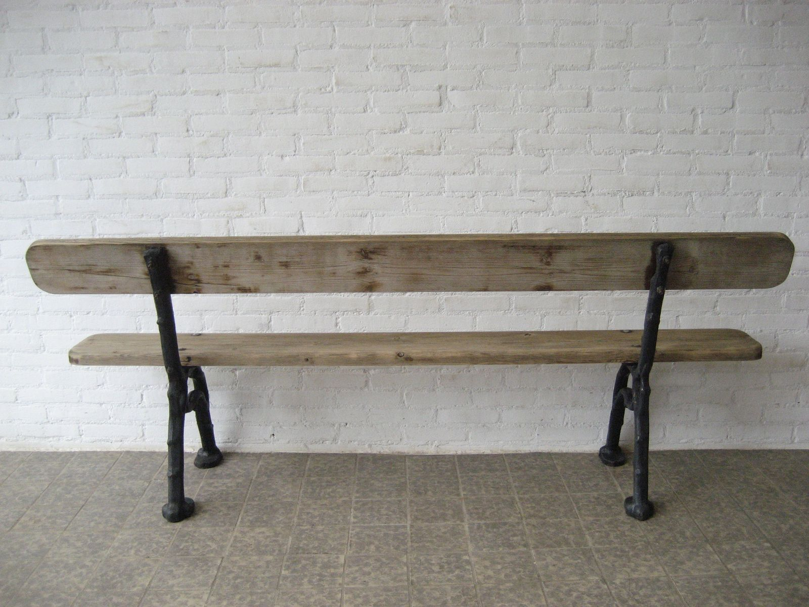 French cast iron and wood garden bench 1930s for sale at - Wood and iron garden bench ...