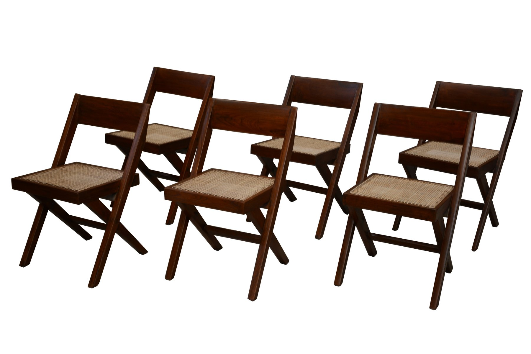 Library Chairs by Pierre Jeanneret 1959 6er Set for sale at Pamono