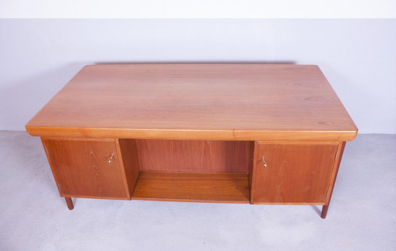 Danish teak office desk by ib kofod larsen for faarup 1960s for sale at pamono - Teak office desk ...